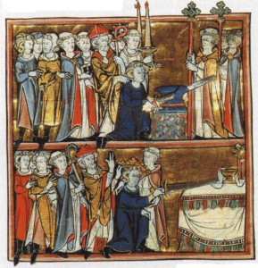 king arthur and excalibur and incoronation